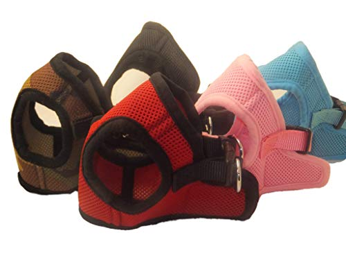 Soft Mesh Comfy Step in Dog Vest Harness for Teacups, Toys, Minis, Small Dog Breeds 2-16 lbs., Baby Pink, Sky Blue, Black, Red, Camo, X-Small, Small, Medium, Large, X-Large (Red, Medium)