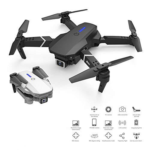 LKK Mini Drone HD 4k RC Quadcopter Pieghevole Drone con Macchina Fotografica di WiFi FPV One Click Indietro Mini Drone,Dual Lens 4k Black