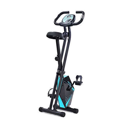 Bicicleta Estáticas Bicicleta Plegable Plegable En Bicicleta De Ejercicio Vertical Para El Ciclo De Aptitud Del Gimnasio De La Casa Interior Con Sensores De Pulso De Mano Y Computadora De Entrenamient