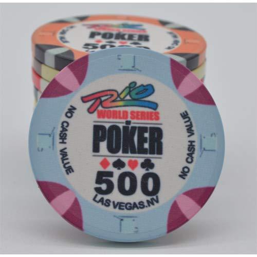 PokerShop Fiches Ceramica WSOP Rio Replica Valore 500