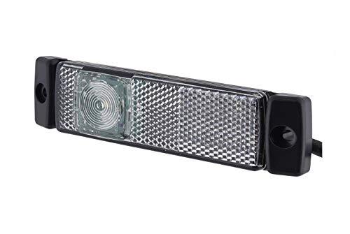 HELLA 2PG 008 645-641 Feu de position - LED - 24V - Montage en saillie - Couleur du voyant: limpide - Couleur LED: blanc - Câble: 5000mm - Fiche: Quick Link - gauche/droite/avant