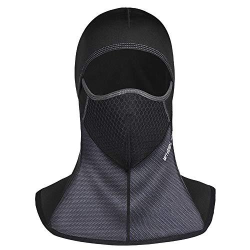 JUNSHUO Pasamontañas Moto, Prueba de Viento Máscara de Invierno, Impermeable, Balaclava Máscara Facial de Deportes al Aire Libre,Tamaño Universal, Anticonge para Ciclismo Esqui Snowboard