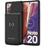 NEWDERY 6000mAH Coque Batterie pour Galaxy Note 20, Batterie Externe Rechargeable Chargeur Batterie et Etui Téléphone Portable Power Bank Backup Chargeur Protection pour Galaxy Note 20