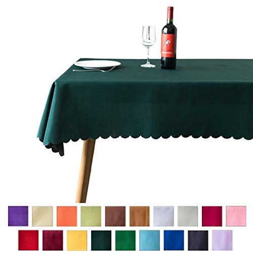 Xiang Ru Nappe de Table Rectangulaire en Polyester pour Restaurant Jardin Pique-Nique Vert Foncé...