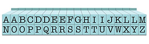 Contact USA Pegz - Upperase Alphabet Stempel-Set, Pool Blue, S