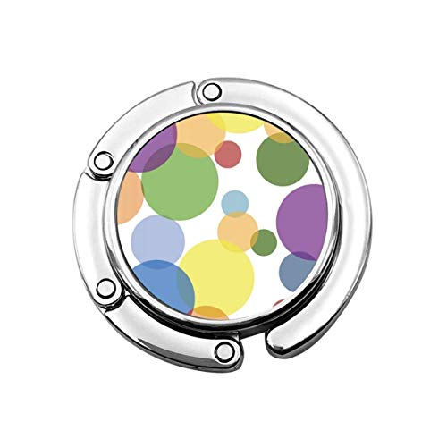 Gancho para Monedero Morado Verde Yellow-Dots Soporte para Monedero Plegable Colgador para Bolso Gancho para Bolsa para Mesa
