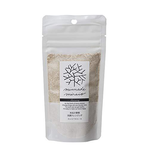 みんなでみらいを 100%無添加 米ぬか酵素洗顔クレンジング 詰替えパック 85g×6袋 (1年分 まとめ買い) 無添加 糠 オーガニック 天然 おすすめ 酵素 米糠 2017年SDGsビジネスアワード大賞