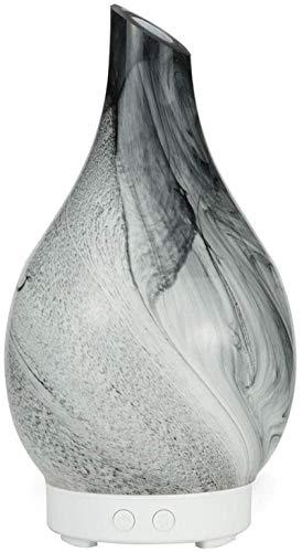JARRONES Splash Tinta Textura Tapón Aromatherapy Machine Oficina Humidificador de vidrio 100ml Forma de florero Decoración del hogar Ornamentos de decoración de siete colores Luminaria tranquila y baj