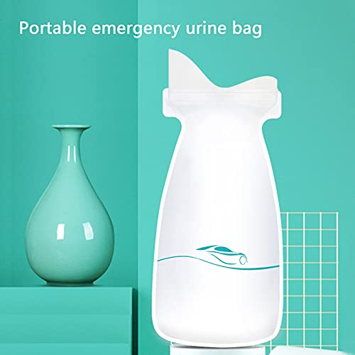 GYAM 8 Pcs 700ml Portable Disposable Urine Bags, Emergency Pee Bags, Absorbent Sealable Vomit Bags for Camping Travel Climbing Traffic Jam for Men Women Kids Patient