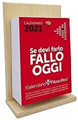 Idea Regalo - Il Calendario Filosofico 2021 – L'originale – con supporto in legno