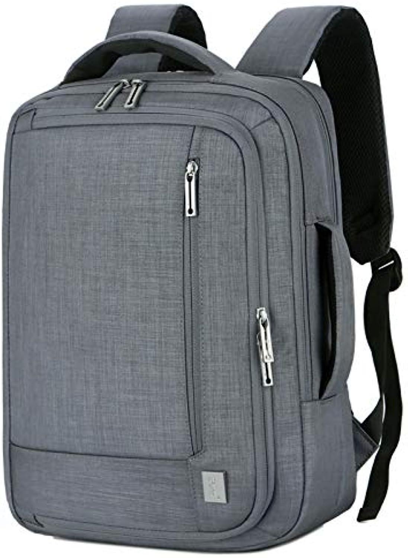 Computer Backpack, USB Computer Backpack  MultiFunction Waterproof Backpack  Men's Business Backpack  Waterproof Nylon ShortDistance Travel Bag