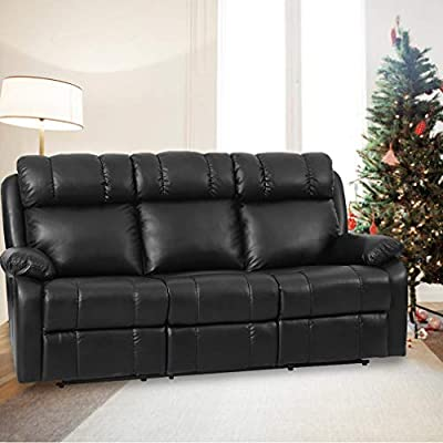 Reclining Sofa Leather Sofa Recliner Couch Recliner Sofa 3 Seater for Living Room