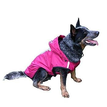 Sengupets Manteau imperméable imperméable pour chien Taille M Rouge
