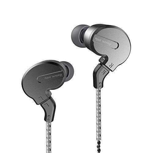 BQEYZ KB1 Triple Drivers Earphones HiFi Stereo in-Ear Metal Shell Removable Cable Headphones (Wireless)