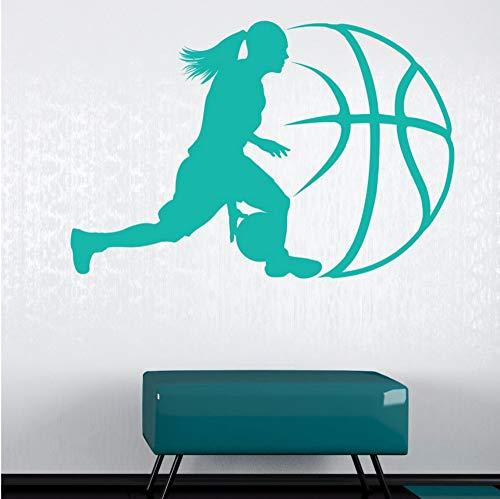 Pbbzl Muursticker basket Home Decor Vinyl Sports Art Camera verwijderbaar muurschildering Jongen Active Wall Decor 42X63CM
