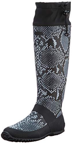 Viking Tokyo Snake, Botte de pluie Femme, Noir/Gris, 36 EU