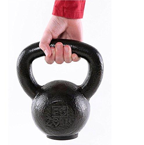 Fitness Solutions LLC Black Hammertone Kettlebells (80 LB)