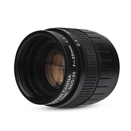 EBTOOLS Obiettivo per fotocamera - Obiettivo a fuoco fisso 35 mm f / 1.7 - Nero per Canon, Sony, Olympus, Pentax, Fuji