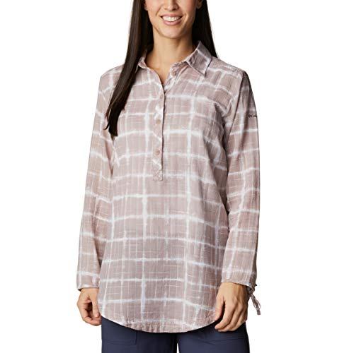 Columbia Women's Camp Henry II Tunic, Mauve Vapor To Dye For Print, Small