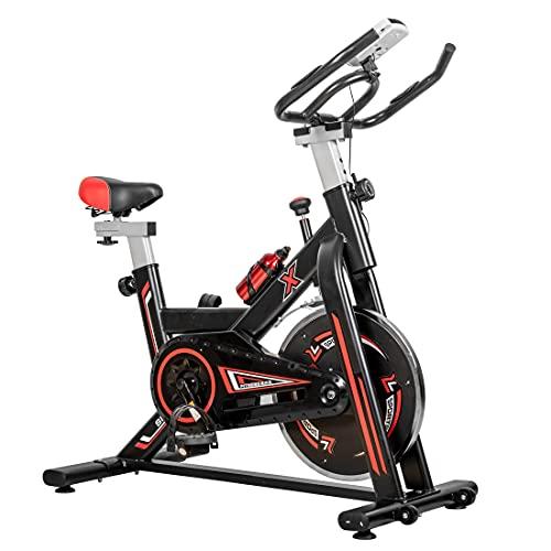 VANTEN Bicicleta Estáticas para Fitness Bicicleta de Spinning Pantalla LCD con Pulsómetro Calidad Profesional