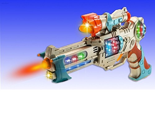 WolVolk Kids Police Pistol Gun with Action Lights & Sounds – Brightly Colored Blaster – Perfect Pretend Play Toy for Boys & Girls