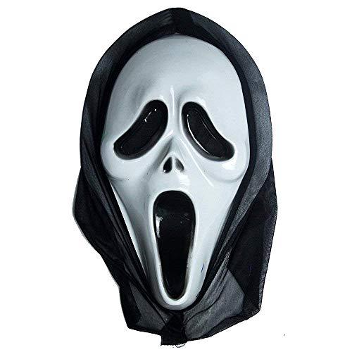 Lovelegis Schrei-Maske für Kostüm - Verkleidung - Karneval - Halloween - Monster - Mörder - weiße Farbe - Erwachsene - Unisex - Frau - Mann - Jungen - Geschenkidee für Weihnachten und Geburtstag