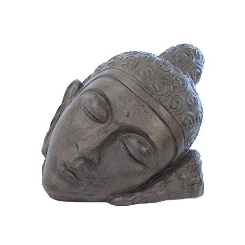 KOH DECO Statue tête de Bouddha Relax 80 cm - Brun