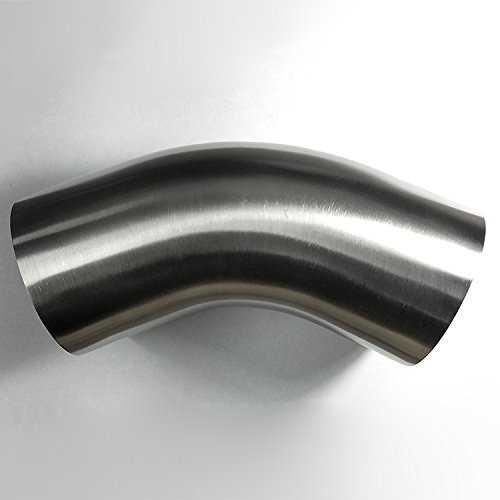 6 Leg//6 Leg 16GA//.065 Wall 1.75 Stainless 180/° Mandrel Bend SS304 1.5D//2.625 CLR Loose Radius Exhaust Fabrication