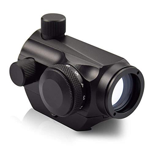 MAYMOC Airsoft 1x24 Micro T-1 Red/Green Dot Sight Scope 20MM