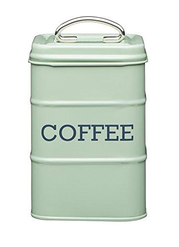 "Kitchencraft Living Nostalgia café recipiente de almacenamiento, 11x 17cm (4""x 6.5""), acero, Inglés Sage, 10,7x 10,7x 16,5cm"