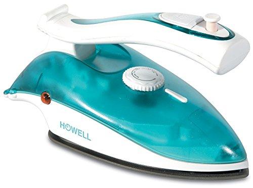 Howell HO.HFT215 Ferro da stiro a secco e a vapore Teflon soleplate 900W Blu, Bianco ferro da stiro