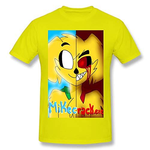 Juicyts Mikecrack - Camiseta de manga corta, diseño 3D, color negro