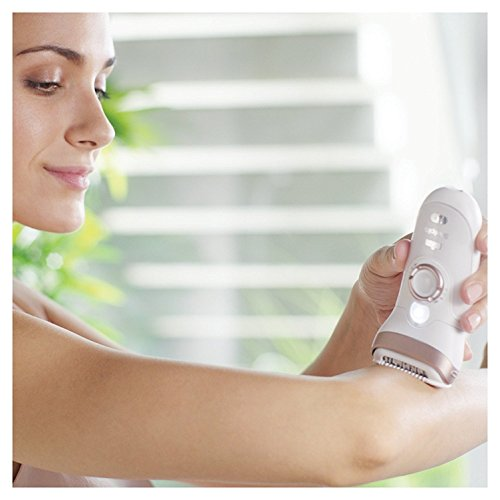 Braun Silk-épil 9 9-561 Wet and Dry Cordless Epilator/Epilation with 6 Extras, White
