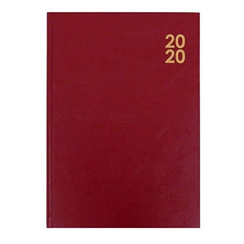 Agenda 2020, con copertina rigida, visualizzazione settimanale, formato A4, bordeaux