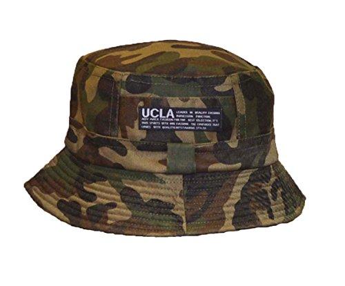 Wigwam Sombrero de cubo de algodón suave y grueso reversible de doble...