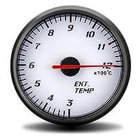 PINGYAYANG 60mmタコメーター昇圧真空水温油温油圧電圧空燃比EGTゲージブラックケースGPSスピードメーター (Color : Ext temp gauge)