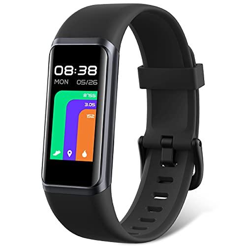 LIFEBEE Pulsera de Actividad Inteligente con Alexa para Hombre Mujer niños, Táctil Completa Reloj Inteligente con Pulsómetro, Oxígeno en Sangre, Monitor de Sueño, Podómetro para Android iOS