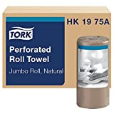 Tork HK1975A Perforated Paper Towel, Jumbo Roll, Universal, Natural, 2-ply, Case of 12 Rolls, 210 per Roll, 2,520 Towels