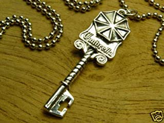 Resident Evil Biohazard Mansion Key Necklace | Cosplay Leon Chris Jill Wesker