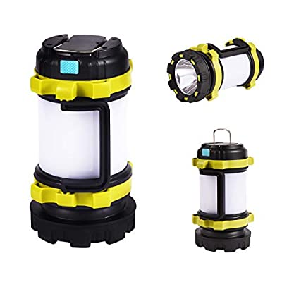 AUTENPOO Rechargeable LED Camping Lantern - Super Bright Tactical Flashlight with 3.5 Hours Continuous Lighting - Battery Powered Camping Light for Outdoor Tent