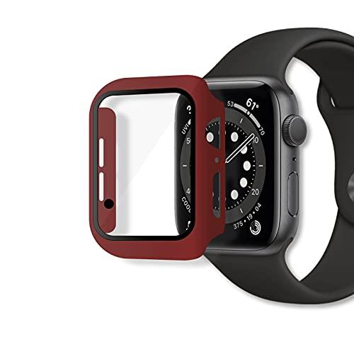 RocketScreen 2 unidades de carcasa rígida con protector de pantalla de 40 mm, compatible con Apple Watch Series 6/SE/5/Series 4, 40 mm, color rojo vino