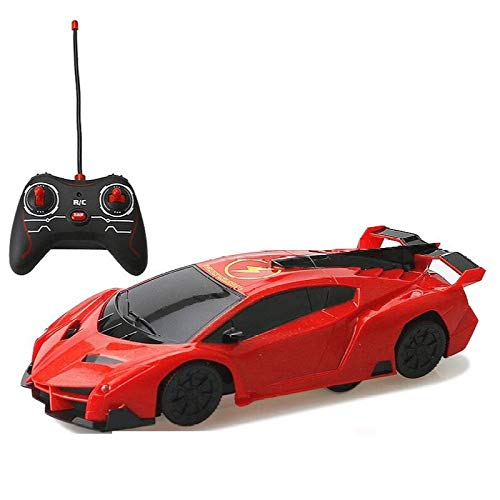 YueYong Auto Telecomandata, con 360 Rotazione Scalatore, Due modalità E 4 Luci A LED, Macchina Telecomandata, Ideale Regalo Giocattole per Bambini,Red