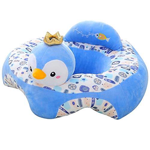 Baby-Sofa-Sitzbezug, Cartoon-Plüschsitz, weiches Sofa, abnehmbar, waschbar, Baby-Stützsitz, Plüsch-Spielzeug, Kissen für Kleinkinder, Kinder, Kleinkinder, blaues Küken