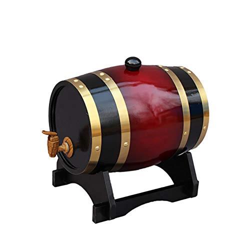 30 Liter Holzfass Eichenfass Weinfass Whiskyfass Liqueur Schnapsfass, Holz Weinfass Spender Anzug für Zuhause, Bar, Party und Bankett,F