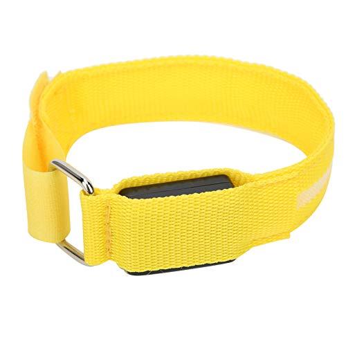 Caiqinlen Pulsera LED para Correr, Brazalete LED con Gancho y Correa de Bucle Tamaño del Brazo Ajustado para Entrenamiento Muscular para Fitness para Deportes Protección para Deportes al(Yellow)