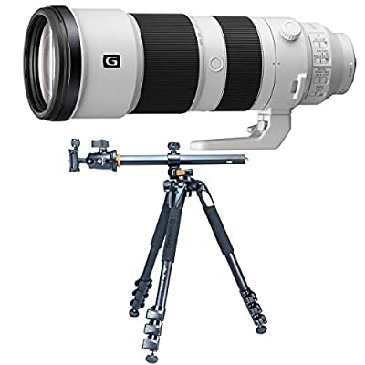 Sony FE 200-600mm f/5.6-6.3 G OSS E-Mount Lens - with Vanguard Alta Pro 263AB 100 Tripod with SBH-100 Head from Sony