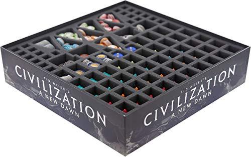 Feldherr Schaumstoff-Set kompatibel mit Sid Meier's Civilization: A New Dawn - Brettspielbox