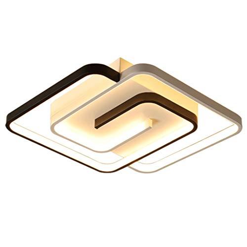Preisvergleich Produktbild Moderne Dimmbar Deckenleuchte LED Schlafzimmer Mit Fernbedienung Deckenlampe Square Metallrahmen Acryl-Schirm Kinderzimmer Wohnzimmer Arbeitszimmer Badezimmer Küche Lampe Beleuchtung, 45*45*6cm / 40W