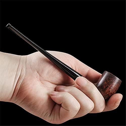 BILXXY Pipa per Tabacco Lunga, Pipa in Legno Fatta a Mano, Kit per Pipa per Principianti Perfetto per Tutti Gli Appassionati di Fumo, Donne e Uomini