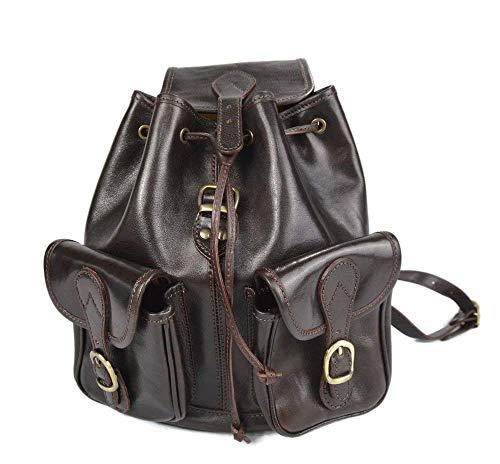 41RevLTOCwL - Mochila de piel marron oscuro mochila piel mochila hombre mujer mochila de viaje mochila de cuero mochila sport bolso de espalda piel